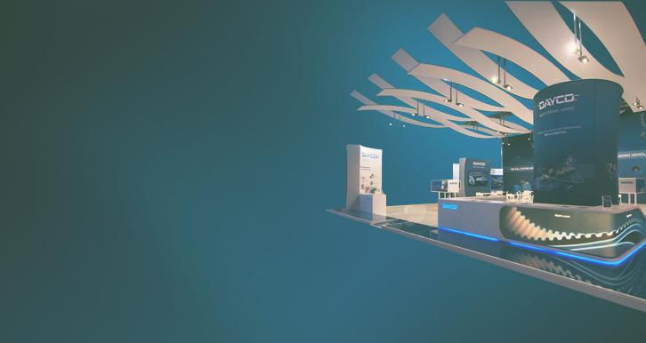 Dayco, International Exhibitions - A centro del concept espositivo c'è il movimento