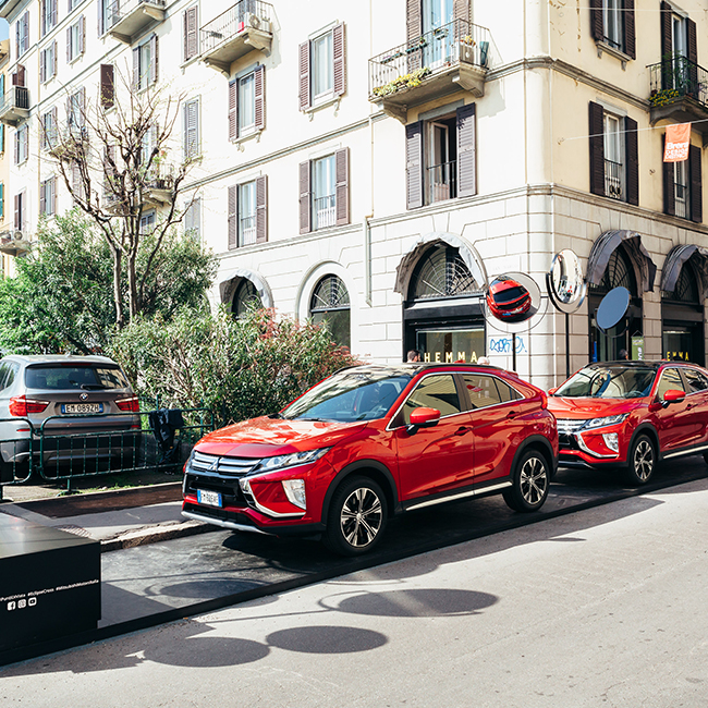 Mitsubishi Eclipse Cross tells the 2018 Design Week from another point of view, together with Corriere della Sera, Living and Kube Libre