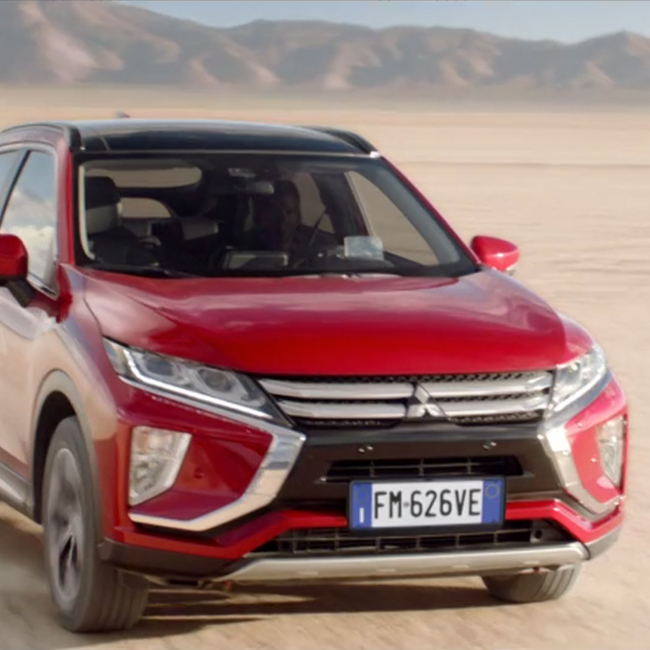 Mitsubishi chooses Kube Libre for the launch of Eclipse Cross, on the notes of Flavio Ibba / Red Rose Productions